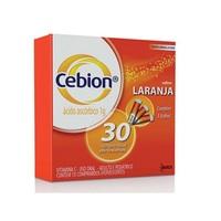 1g, 3 frascos com 10 comprimidos efervescentes, sabor laranja