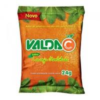 Balas de Gelatina Valda C laranja mentolada, pacote com 24g