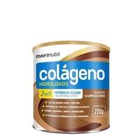 Colágeno Hidrolisado 2 em 1 Maxinutri frasco com 270g de pó para solução de uso oral, sabor cappuccino