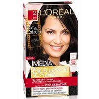 Tintura L'Oréal Imédia Excellence Creme - nº 2 preto clássico