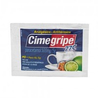 Cimegripe 77C 100mg/g, envelope com 5g de pó para preparo extemporâneo de uso oral, sabor mel e limão