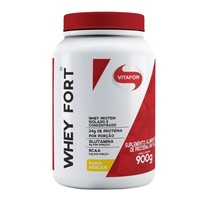 Whey Fort Vitafor abacaxi, pote com 900g