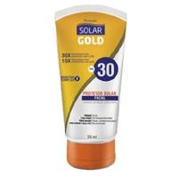 Protetor Solar Facial Gold FPS 30, sem cor, 50mL