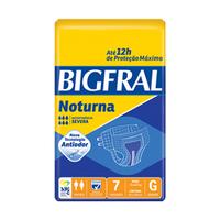 Fralda Geriátrica Bigfral Noturna G, pacote com 7 unidades