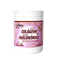 Colágeno Hidrolisado + Ácido hialurônico + Biotina + Cisteína + Vitaminas A, C, D e E frasco com 170 g, sabor frutas vermelhas