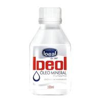 Óleo Mineral Puríssimo Ideal frasco com 100mL de óleo uso oral ou tópico