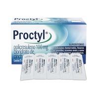 Proctyl 100mg + 27mg, caixa com 15 supositórios de uso retal