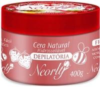 Cera Depilatória Hidrossolúvel para Micro-Ondas Neorly quente, morango com mel, 400g