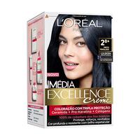 Tintura L'Oréal Imédia Excellence Creme nº 2.8 preto perolado