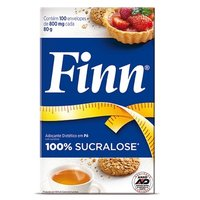 Adoçante Finn Sucralose sachê, leve 100 pague 75