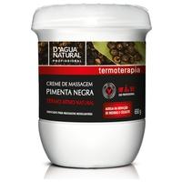 Creme de Massagem D'água Natural Pimenta Negra 650g
