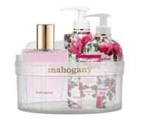 perfume feminino, eau de cologne, 100mL + sabonete líquido, 350mL + hidratante corporal, 350mL + creme para mãos, 60g + ofurô