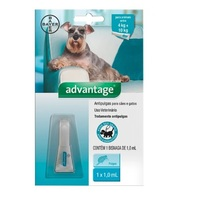 Advantage Cães e Gatos de 4Kg até 10Kg com 1 bisnaga de 1,0mL