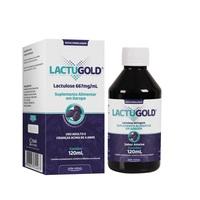 Lactugold 667mg/mL, frasco com 120mL de xarope de uso oral, sabor ameixa