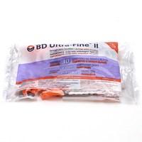 Seringa de Insulina BD Ultra-Fine II 30U 8mm com 10 unidades