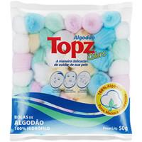 Algodão Topz bolas, colorido com 50g