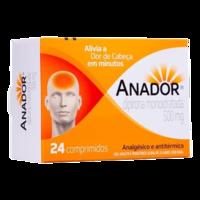 Anador 500mg, caixa com 24 comprimidos