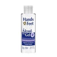 Álcool Gel 70% Hands & Feet frasco com 60mL de gel de uso dermatológico