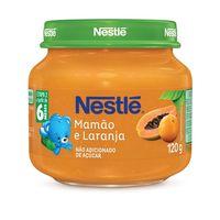6+ meses, laranja com mamão, 1 unidade com 120g