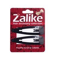 Presilha de Cabelo Zalike tic-tac, preto, 7cm, 6 unidades