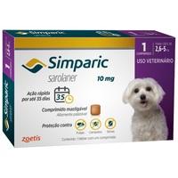 Simparic 2,6 a 5Kg, 10mg, caixa com 1 comprimido