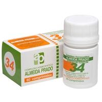 Complexo Homeopático Almeida Prado Nº 34 frasco com 60 comprimidos