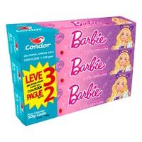 6+ anos, com flúor, Barbie, leve 3 e pague 2 unidades com 50g cada