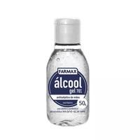 Álcool Gel 70% Farmax frasco com 50g de gel de uso dermatológico