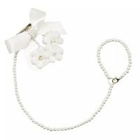 laço flor & pérolas, marfim