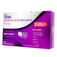 Fexx 60mg, caixa com 10 comprimidos revestidos