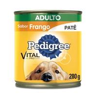 Ração para Cães Pedigree Adulto Patê frango, 1 unidade com 280g
