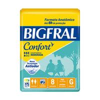 Fralda Geriátrica Bigfral Confort G, pacote com 8 unidades