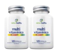 Multivitamínico Nature Healthy frasco, 2 unidades com 120 cápsulas cada