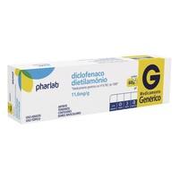 Diclofenaco Dietilamônio Pharlab 11,6mg/g, caixa com 1 bisnaga com 60g de gel de uso dermatológico