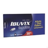 Ibuvix 300mg, caixa com 30 comprimidos