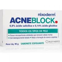 Sabonete Facial Esfoliante Nixoderm AcneBlock Barra, 90g