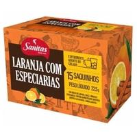 laranja com especiarias, sachê, 15 unidades