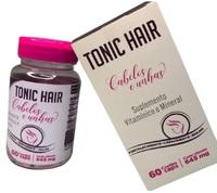 Tonic Hair Cabelos e Unhas 645mg, frasco com 60 cápsulas