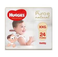 Fralda Huggies Natural Care XXG, pacote com 24 unidades