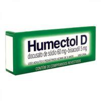 Humectol D 5mg + 60mg, caixa com 20 comprimidos revestidos