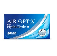 Lente de Contato Air Optix Plus HydraGlyde para Miopia grau -6.25, 3 pares