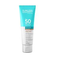 Protetor Solar Facial Sunless Toque Seco FPS 50, bronze, 60g