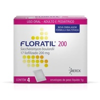 Floratil Pó Oral 200mg/g, caixa com 4 envelopes com 1g de pó de uso oral