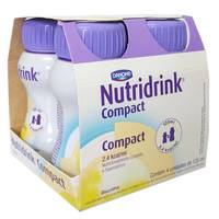Suplemento Alimentar Nutridrink Compact Protein - baunilha, 125mL, 4 unidades