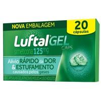 Luftal Gel Caps 125mg, caixa com 20 cápsulas gelatinosas moles
