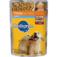 Ração para Cães Pedigree Júnior sabor frango ao molho, 100g