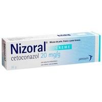 Nizoral 20mg/g, caixa com 1 bisnaga com 30g de creme de uso dermatológico