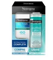loção, FPS 60, 50mL + grátis, água micelar Purified Skin, 200mL