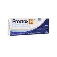 Proctox-H 50mg/g + 10 mg/g, caixa com 1 bisnaga com 30g de pomada de uso retal + 10 aplicadores