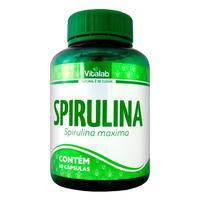 Spirulina Vitalab frasco com 60 cápsulas